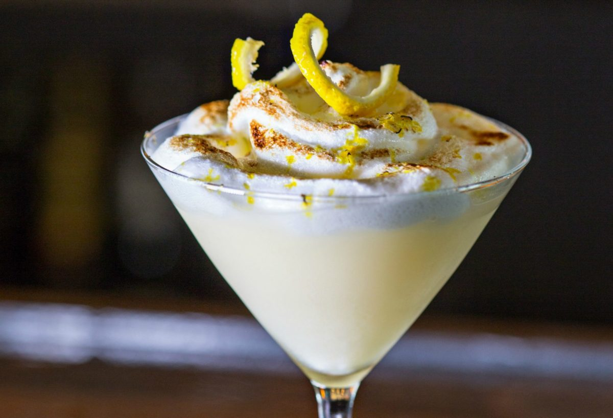 Lemon Meringue Martini at 41Hundred