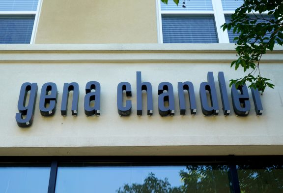 Store sign for Gena Chandler