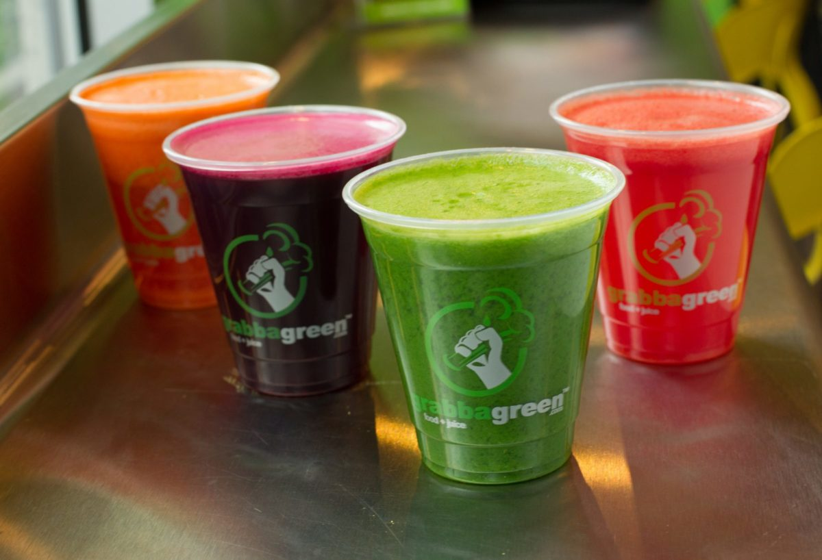 Amazing smoothies from Grabbagreen