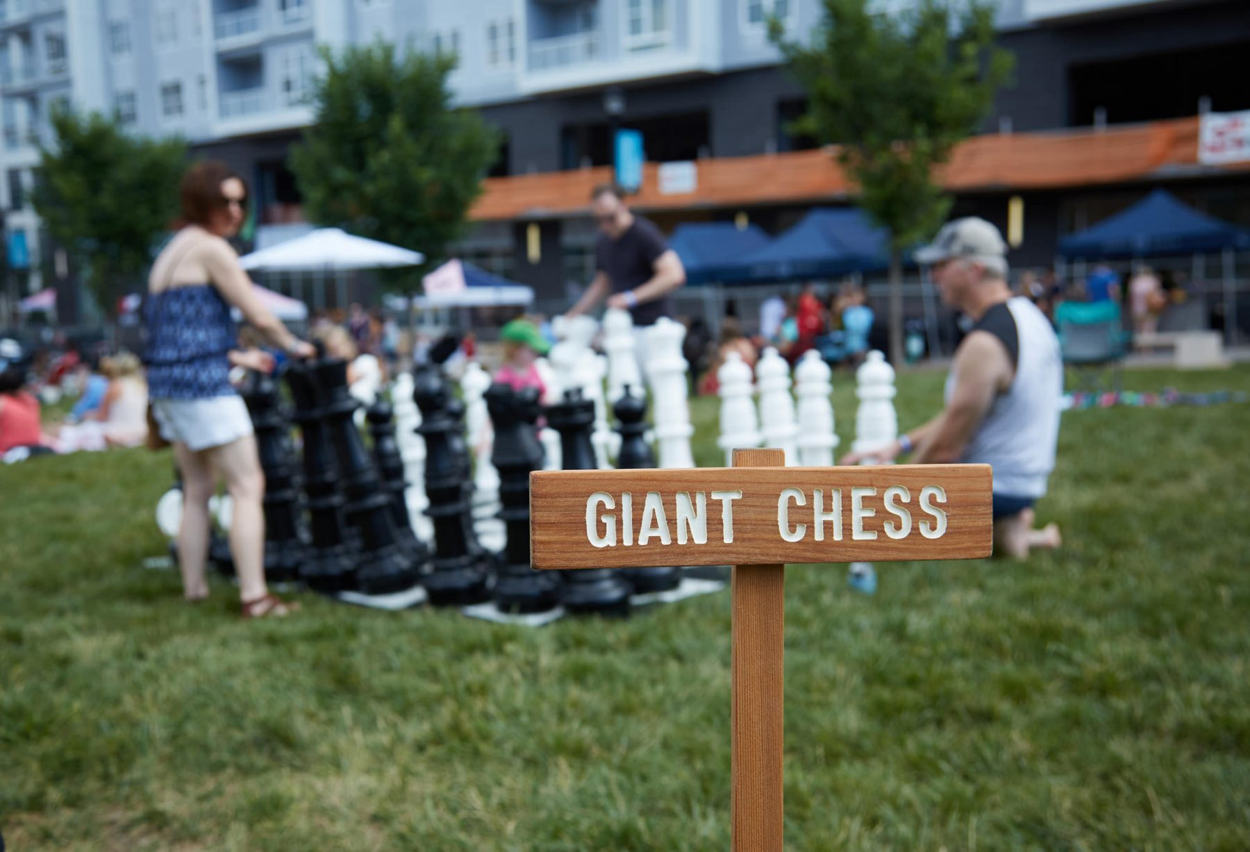 Giant Chess at Sunday Funday